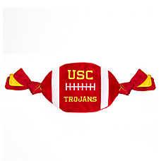 University of Southern California Trojans NCAA Flattie Crinkle Football Dog Toy