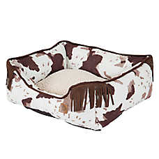 MuttNation Cowhide Lounger Dog Bed