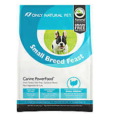 Only Natural Pet Canine PowerFood Small Breed Dog Food- Limited Ingredient, Natural, Grain Free