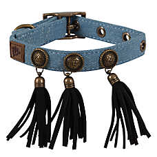 MuttNation Denim & Conchos Dog Collar