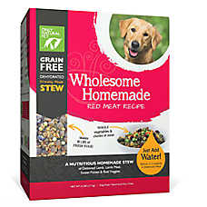 Only Natural Pet Wholesome Homemade Dog Food - Grain Free, Dehydrated, Red Meat