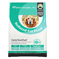 Only Natural Pet Canine PowerFood Reduced Fat Dog Food- Limited Ingredient, Natural, Grain Free