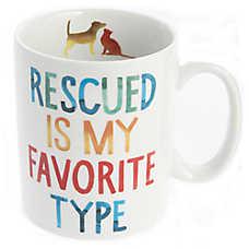 """Fringe """"Rescued"""" Ceramic Dog Mug"""