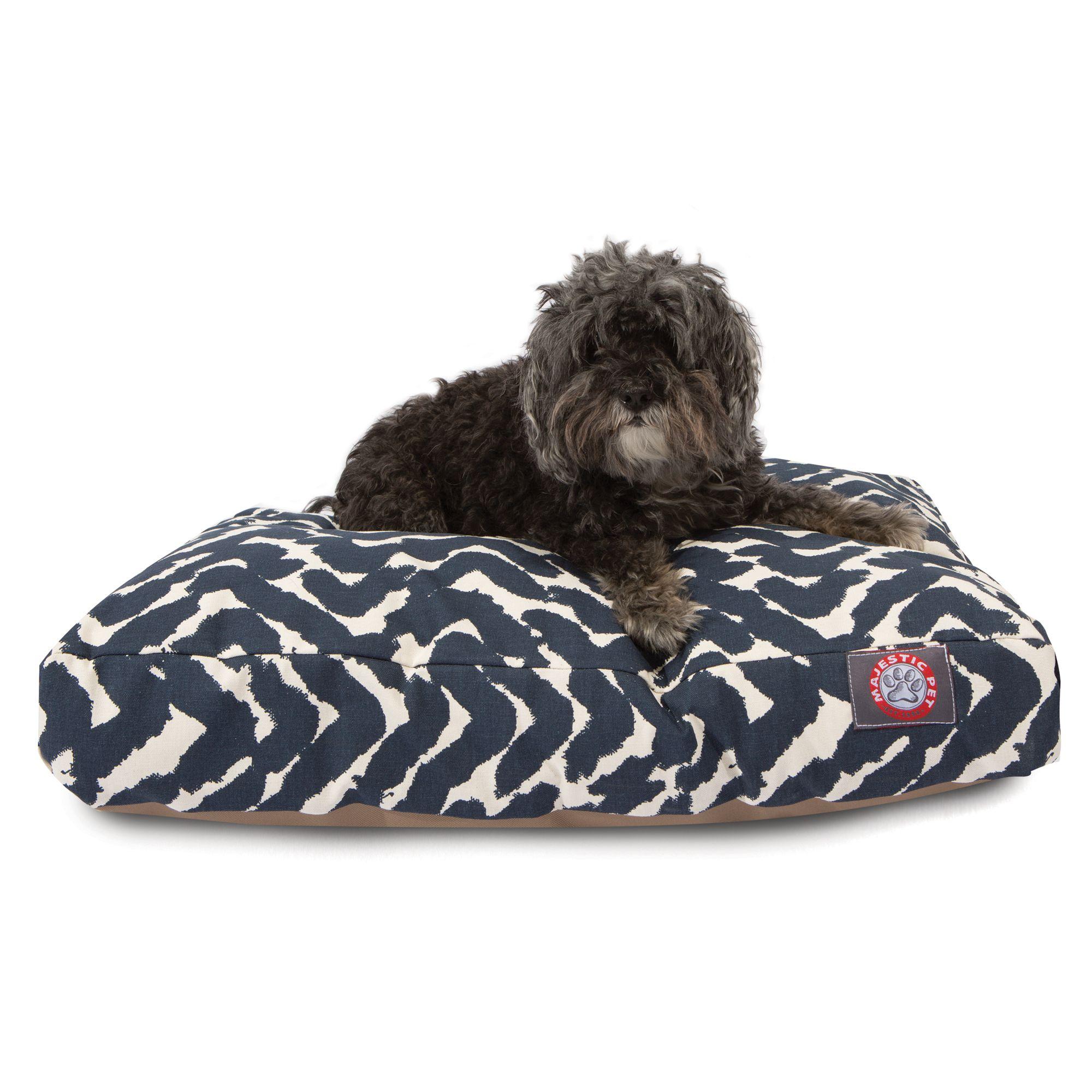Enjoyable Majestic Pet Brushstrokes Navy Dog Bed Creativecarmelina Interior Chair Design Creativecarmelinacom