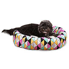 Majestic Pet Triangles Colorful Sherpa Dog Bed