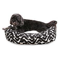 Majestic Pet Brushstrokes Black Sherpa Dog Bed