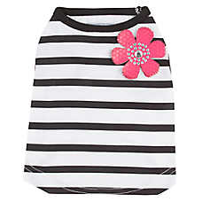 Top Paw® Striped Flower Pet Tee