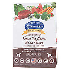 Stewart Raw Naturals Dog Food - Freeze Dried, Bison