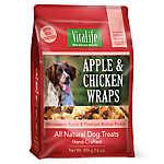 VitaLife Wraps Dog Treat - Natural, Grain Free, Apple & Chicken