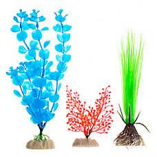 GloFish® Blue and Green Aquarium Plant Variety Pack