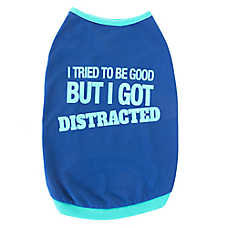"""Top Paw® """"I Tried to Be Good But I Got Distracted"""" Dog Tee"""