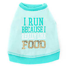 "Top Paw® ""I Run Because I really Like Food"" Sequin Pet Tank"
