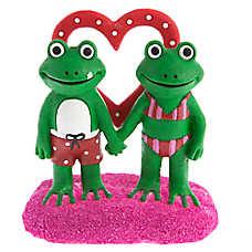 Top Fin® Valentine's Day Love Frogs Aquarium Ornament