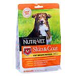 Nutri-Vet Skin & Coat Dog Treat - Natural, Grain Free
