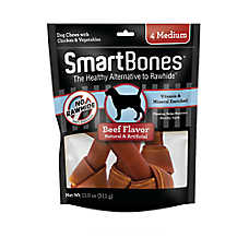 SmartBones® Medium Chews Dog Treat - Beef