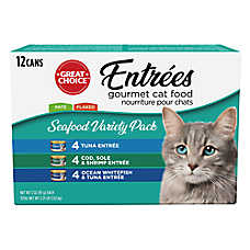 Grreat Choice® Gourmet Seafood Variety Pack Wet Cat Food