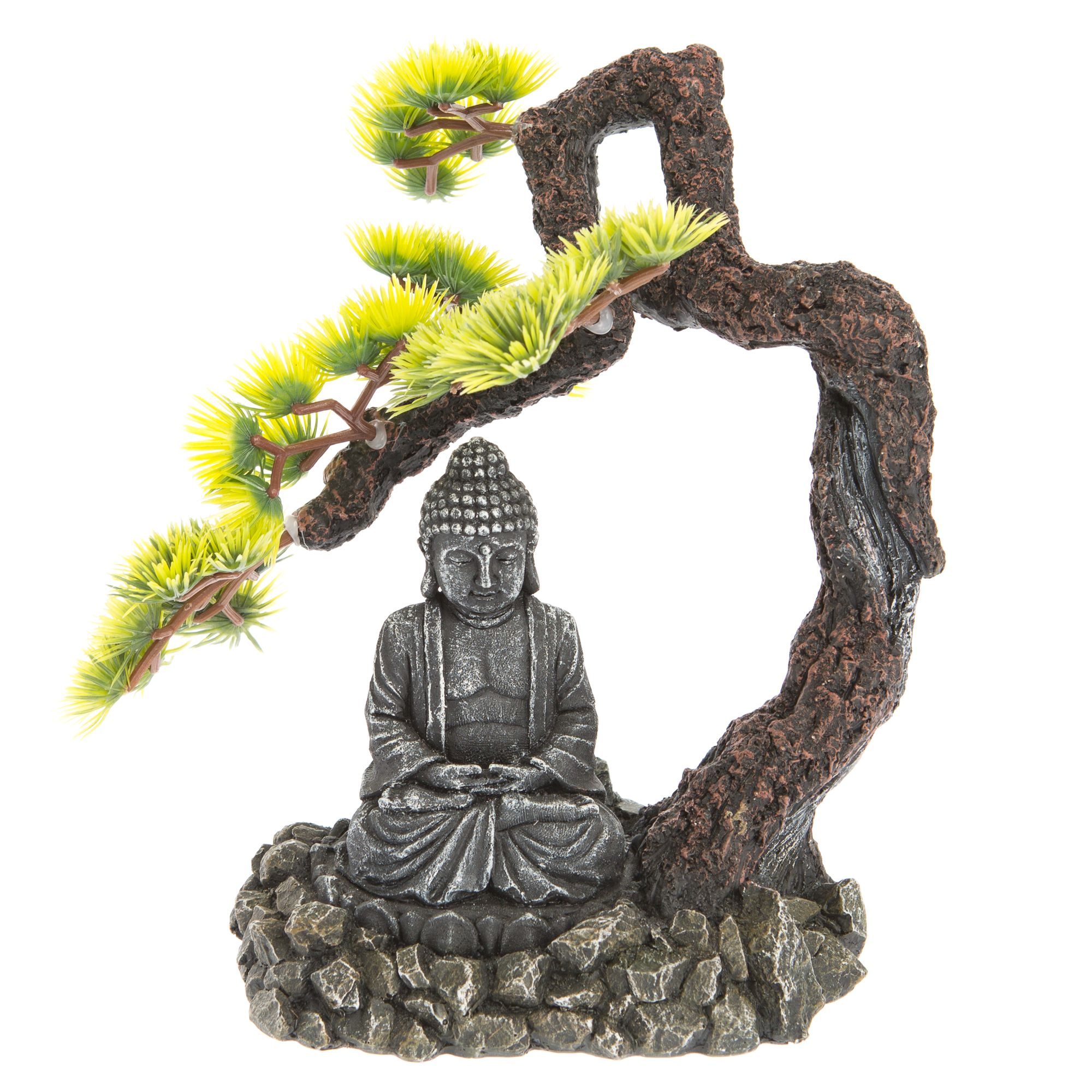 Top Fin Bonsai Tree With Buddha Aquarium Ornament Fish Ornaments Petsmart