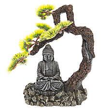 Top Fin® Bonsai Tree with Buddha Aquarium Ornament