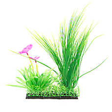 Top Fin®  Landscape with Pink Flower Aquarium Plant