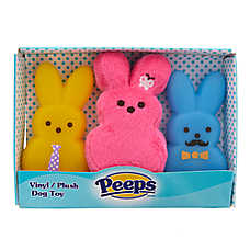 PEEPS® Bunny 3-Pack Dog Toy