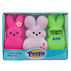 PEEPS® Bunny 3-Pack Plush Dog Toy