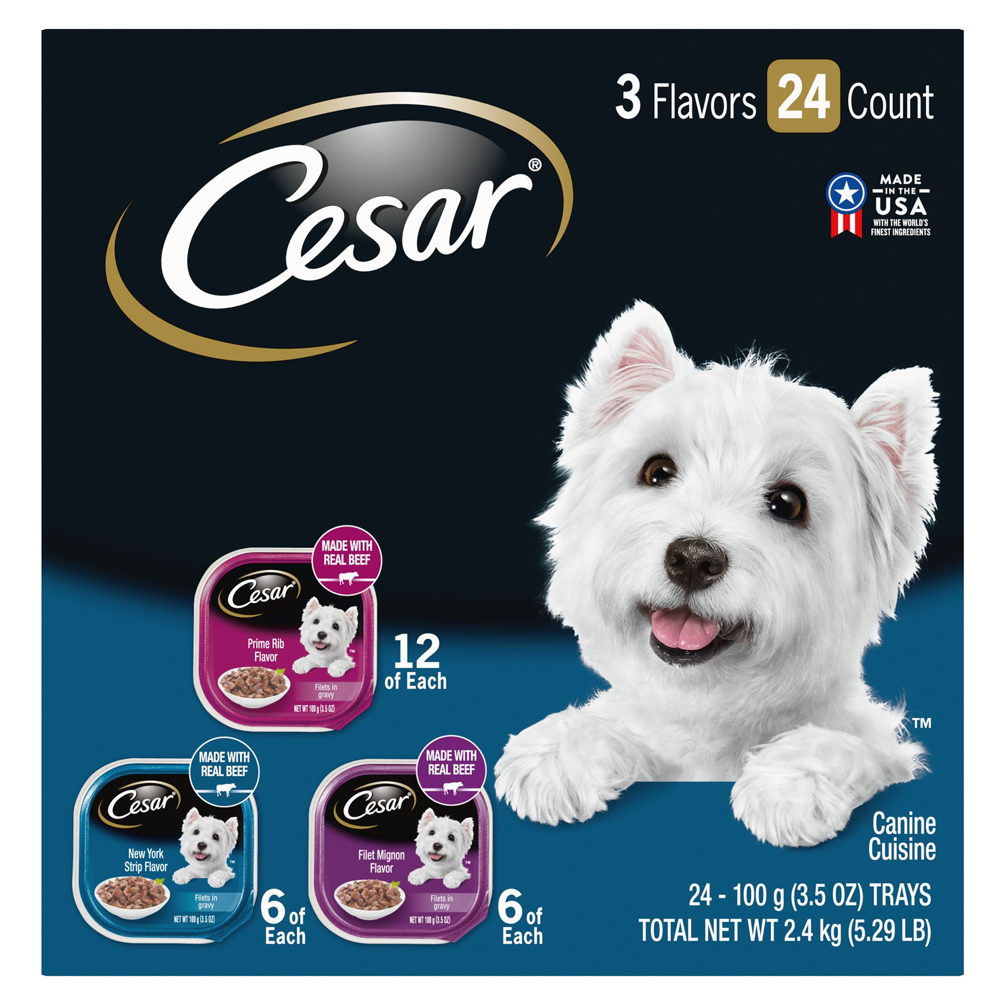 Cesar Small Breed Dry Dog Food Standard Packaging Filet Mignon 12 lbs.