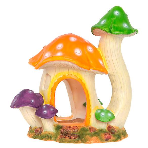 Top fin mushroom hut aquarium ornament fish ornaments for Petsmart fish decor
