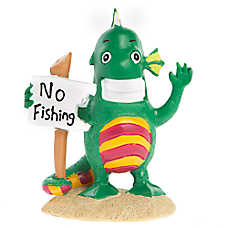 Top Fin® Creature with No Fishing Sign Aquarium Ornament