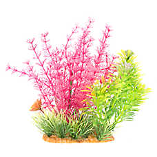 National Geographic™ Green & Pink Landscape Aquarium Plant