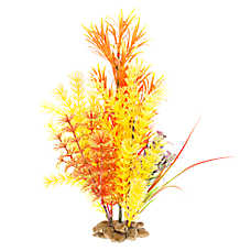 Top Fin® Orange Rock Base Aquarium Plant