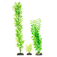 Top Fin® Green and White Aquarium Plant Variety Pack