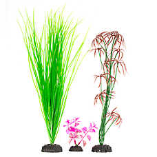 Top Fin® Grass and Magenta Aquarium Plant Variety Pack