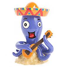 Top Fin® Guitar Octopus Aquarium Ornament