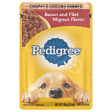 PEDIGREE® Adult Dog Food - Bacon & Filet Mignon