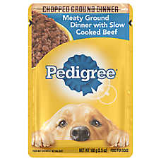 PEDIGREE® Adult Dog Food - Meaty Ground Dinner w/ Beef