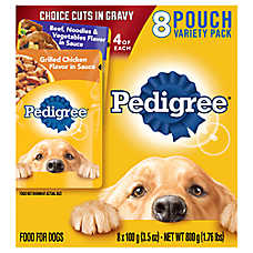 PEDIGREE® Adult Dog Food - Variety Pack, 8ct, Beef Noodle & Chicken