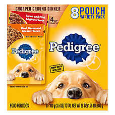 PEDIGREE® Adult Dog Food - Chopped Ground Dinner, Variety Pack, 8ct