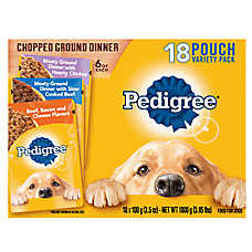 PEDIGREE® Adult Dog Food - Chopped Ground Dinner, Variety Pack, 18ct