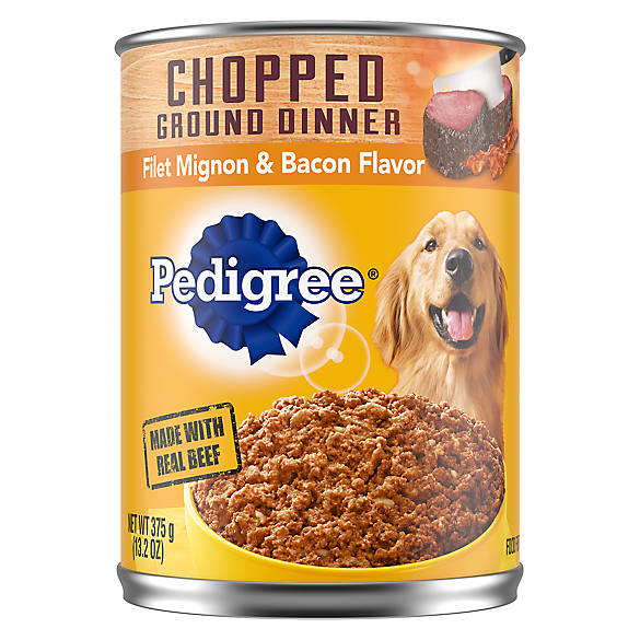 Pedigree Adult Dog Food Filet Mignon Bacon Dog Canned Food