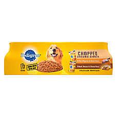 PEDIGREE® Adult Dog Food - Chopped/Chunky Ground Dinner Variety Pack, 12ct