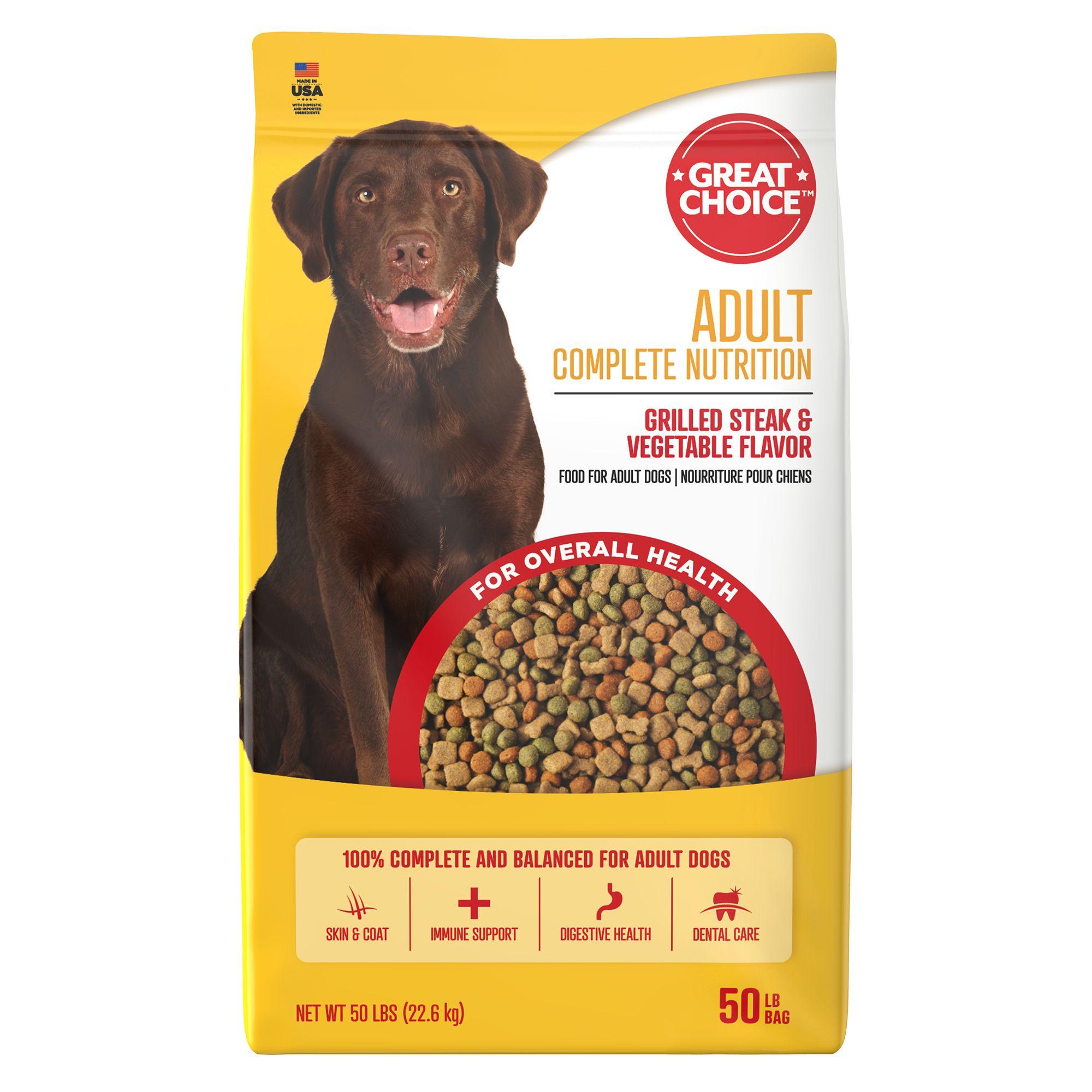 Grreat Choice Complete Nutrition Adult Dog Food Steak Veggie