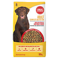 Grreat Choice® Complete Nutrition Adult Dog Food - Steak & Veggie