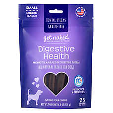 Get Naked Digestive Health Small Dog Dental Treat - Natural, Grain Free, Chicken