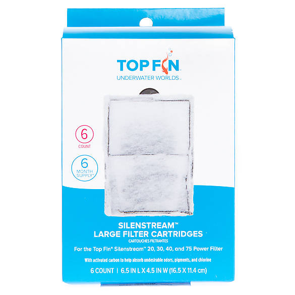 Top fin silenstream large filter cartridges fish for Petsmart fish tank filters