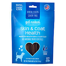 Get Naked Skin & Coat Small Dog Dental Treat - Natural, Grain Free, Chicken