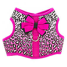 Top Paw® Cheetah Bow Dog Vest Harness