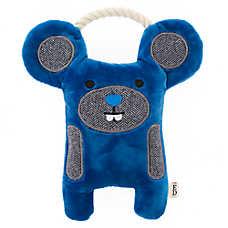 ED Ellen DeGeneres Mouse Dog Toy - Plush, Rope, Squeaker