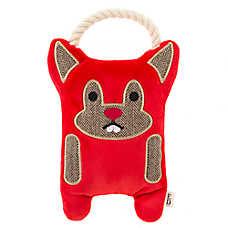 ED Ellen DeGeneres Beaver Dog Toy - Plush, Rope, Squeaker