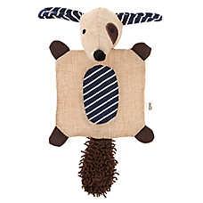 ED Ellen DeGeneres Spot Dog Mat Flattie Dog Toy - Crinkle, Plush, Squeaker