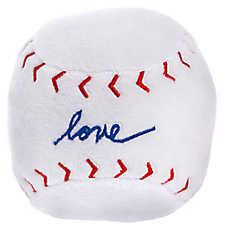 """ED Ellen DeGeneres """"Love"""" Baseball Dog Toy - Plush"""
